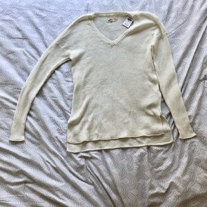 Hollister Cream White Knit Long Sleeve